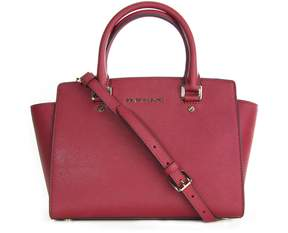 MICHAEL Michael Kors Selma Medium Satchel Mulberry - RED - STYLE
