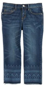 Jessica Simpson Girl's Cherish Cropped Flare Jeans