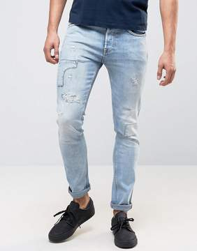 Pepe Jeans Pepe Archive Eddy Skinny Fit Jean Bleach Destroyed Wash