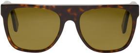 Super Tortoiseshell Flat Top Sunglasses
