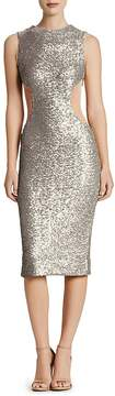 Dress the Population Ryan Mesh-Inset Sequin Midi Dress