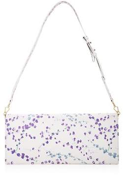Max Mara Ted Floral Print Leather Shoulder Bag
