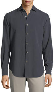 Loro Piana Alain Silk-Dyed Button-Front Shirt