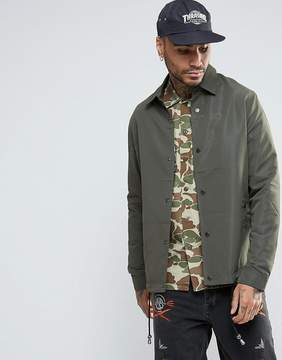 Asos Coach Jacket In Khaki