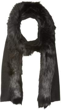 Lauren Ralph Lauren Fur Trimmed Jersey Scarf Scarves