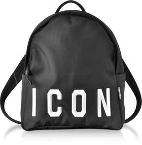 DSQUARED2 Icon Black Techno Fabric Men's Backpack