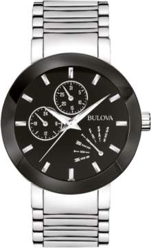 Bulova Men's Dial Stainless Steel Watch, 40mm