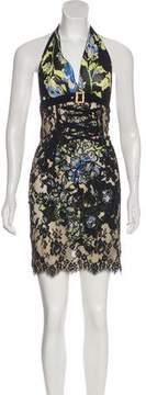 Roccobarocco Lace Mini Dress
