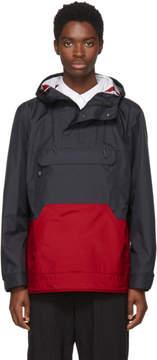 Comme des Garcons Homme Black and Red Popover Jacket