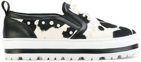 MSGM platform slip-on sneakers