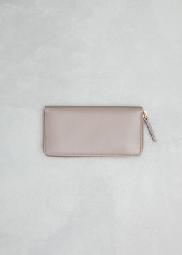 Maison Margiela taupe large zip around wallet
