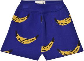 Bobo Choses Turkish Sea Blue Knitted Shorts