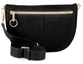 Elizabeth and James Scott Moon Small Suede Crossbody Bag
