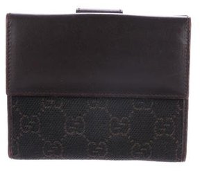 Gucci GG Denim French Purse Wallet - BROWN - STYLE