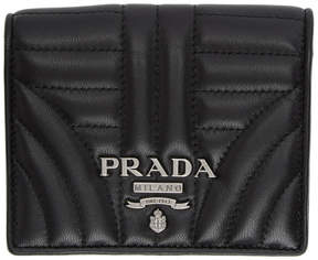 Prada Black Quilted French Wallet