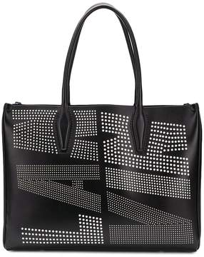 Lanvin perforated logo tote bag
