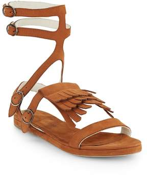 Freda Salvador Women's Fringed Suede Gladiator Sandals