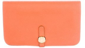 Hermes Togo Dogon Combined Wallet - ORANGE - STYLE