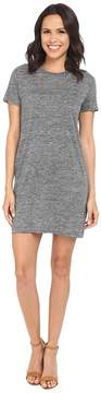 Michael Stars Linen Knit Short Sleeve Tee Dress w/ Slip Women's Dress