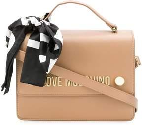 Love Moschino scarf logo shoulder bag