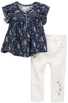 Jessica Simpson Top & Twill Pants 2-Piece Set (Baby Girls)