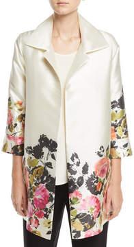 Caroline Rose Flower Girl Open-Front Party Jacket, Plus Size
