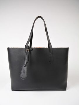 Burberry Lavenby Shopper Bag - BLACK - STYLE
