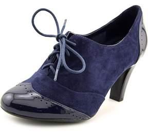 Giani Bernini Vickii Women Cap Toe Suede Blue Heels.