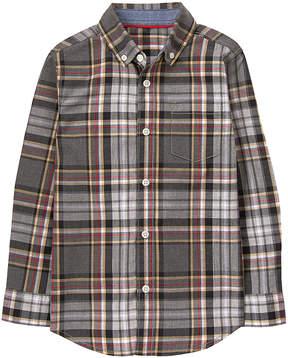 Gymboree Gray Plaid Button-Up - Boys