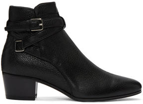 Saint Laurent Black Blake Jodhpur Boots