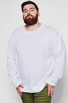 boohoo Big And Tall Basic Crew Neck Sweater