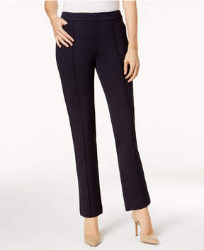 Charter Club Petite Ponte-Knit Seamed Crop Pants, Created for Macy's
