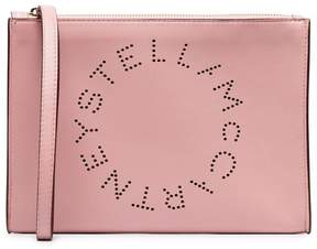 Stella McCartney wrist strap zipped faux leather clutch