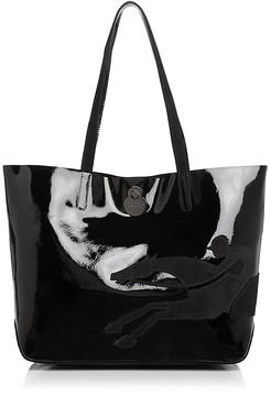 Longchamp Shop It Medium Patent Leather Tote - BLACK/GUNMETAL - STYLE