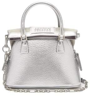 Maison Margiela 5ac Mini Leather Cross Body Bag - Womens - Silver
