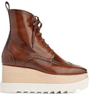Stella McCartney Faux Glossed-Leather Platform Ankle Boots
