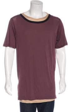 Dries Van Noten Layered Scoop Neck T-Shirt