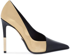 Balmain two-tone metallic pumps