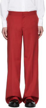 Yang Li Red Low-Rise Wide Trousers