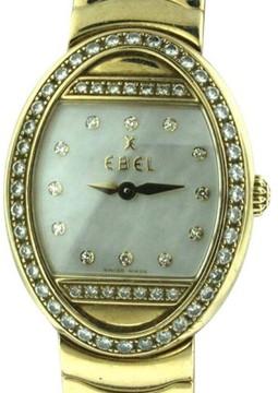 Ebel Satya 18K Yellow Gold MOP & Diamond 23mm x 29mm Watch
