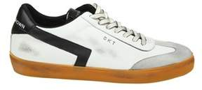 Leather Crown Men's White/black Leather Sneakers.