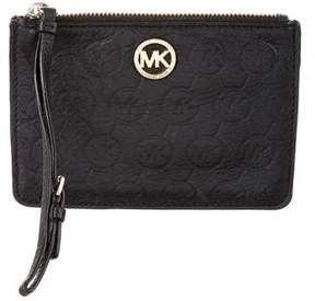 MICHAEL Michael Kors Leather Zip Pouch