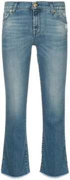 7 For All Mankind flared cropped trousers