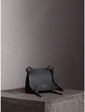 Burberry The Baby Bridle Bag in Riveted Leather - BLACK - STYLE