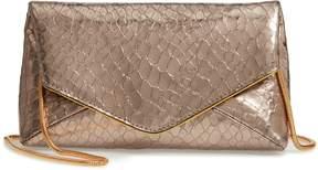 Dries Van Noten Snake Embossed Leather Envelope Clutch