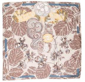 Chanel Coco & Nuts Silk Scarf