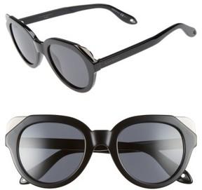 Women's Givenchy 50Mm Retro Sunglasses - Black