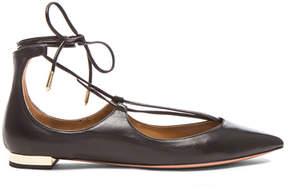 Aquazzura Christy Leather Flats
