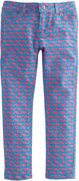 Vineyard Vines Girls Etched Whale 5-Pocket Denim