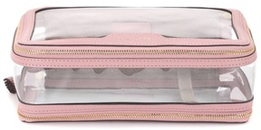 Anya Hindmarch Inflight leather-trimmed cosmetics case